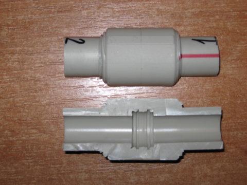 Правильно выполненное соединение не уступает прочностью сплошной трубе