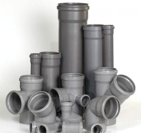 Трубы и фасонина для внутренней канализации