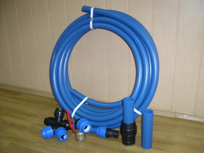 Полиэтиленовые трубы и фитинги для холодного водоснабжения