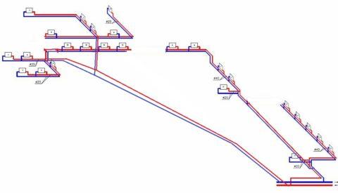 Двухтрубная тупиковая схема