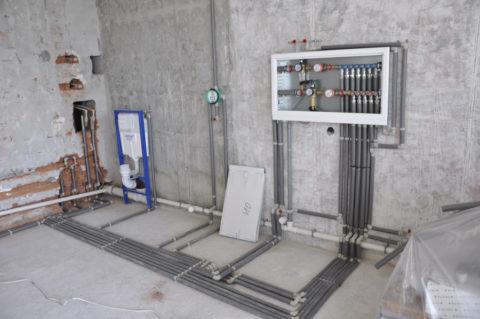 Коллекторную разводку можно выполнить только на стадии строительства или капремонта