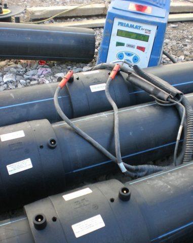 Монтаж магистрали водоснабжения на электромуфтовых соединениях