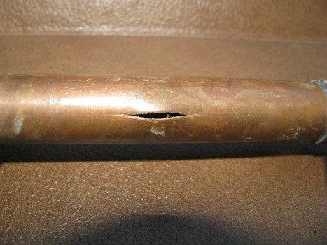 Порывы чаще всего происходят при разморозке водопровода