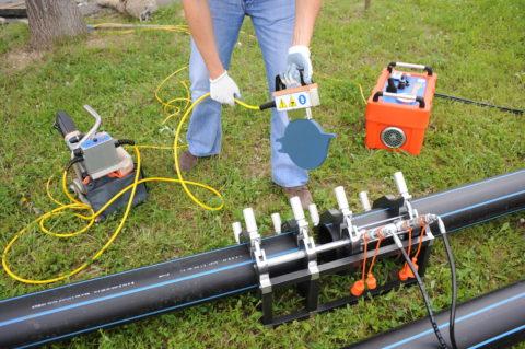 Стыковая сварка полиэтиленового водопровода