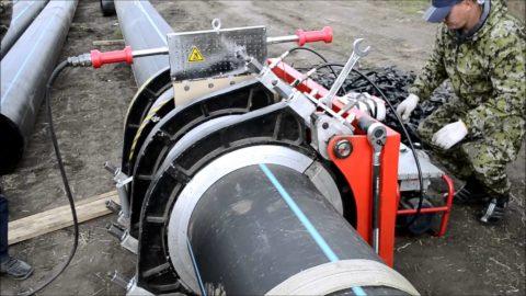 Стыковая сварка при монтаже магистрали водоснабжения