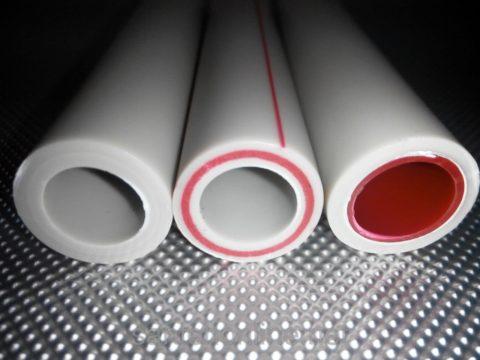 Трубы с армированием минеральным волокном