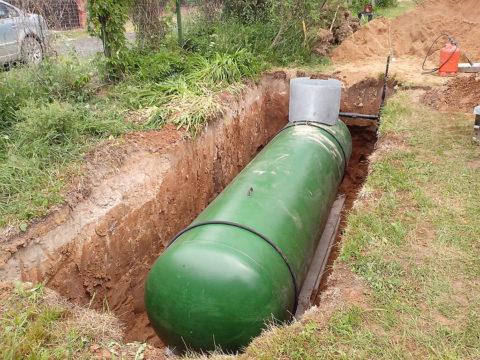 Установка газгольдера для автономного газоснабжения