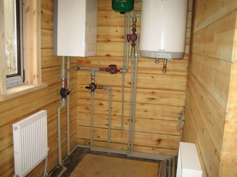 Водоснабжение — отопление в доме из бруса смонтировано полипропиленовыми трубами