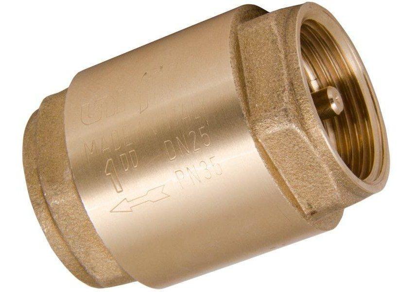 Обратный клапан с размером присоединяемой резьбы ДУ 25