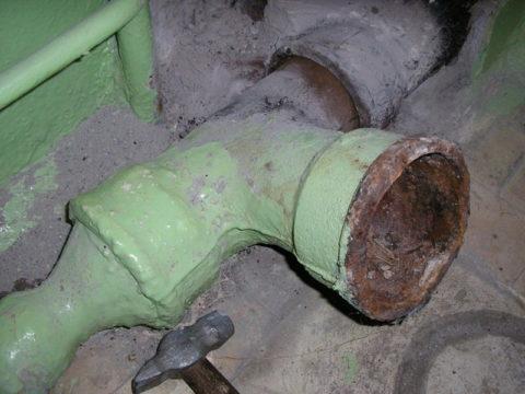 Чугунная канализационная гребенка