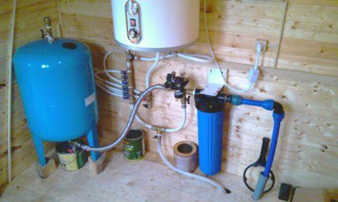 Гидроаккумулятор в системе ХВС частного дома