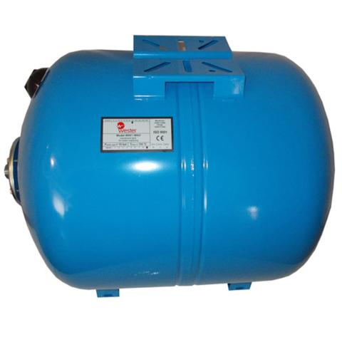 Мембранный бак для водоснабжения Wester полным объемом 100 литров может запасти не больше 50 литров воды