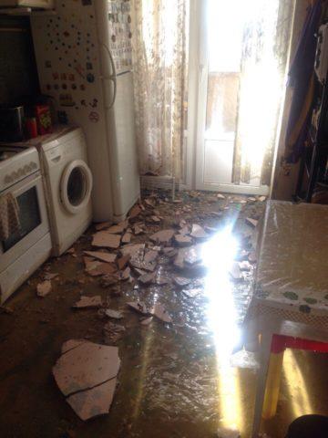 Последствия затопления квартиры кипятком