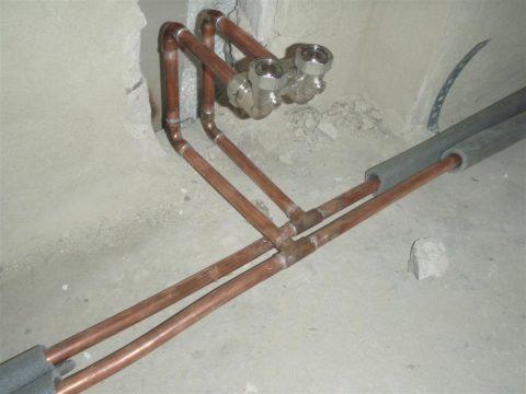 Разводка отопления медью на паяных соединениях