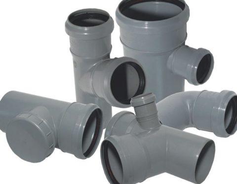 Внешне полипропиленовая канализация неотличима от изготовленной из ПВХ