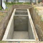Автономная канализация: септик бетонный трёхкамерный
