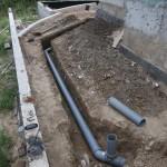 Небольшой уровень заглубления канализационного трубопровода