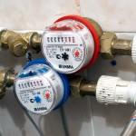 Участок трубопровода с установленным водомером