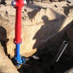 Гидрант на подземном трубопроводе