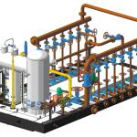 Готовая 3D модель системы водоснабжения промышленных предприятий
