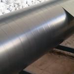 Намотка термоусаживаемой ленты на трубу