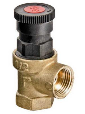 Клапан сбрасывает воду в дренаж при давлении свыше 6 атмосфер