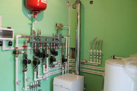 Котельная, обеспечивающая частный дом теплом и горячей водой