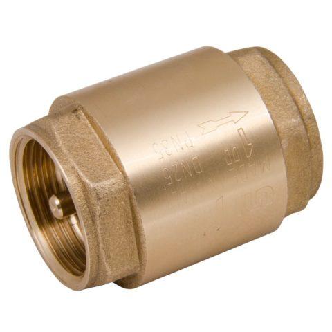 Обратный клапан с пружинным затвором