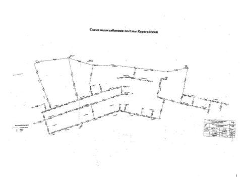 Образец кольцевой схемы водоснабжения населенного пункта