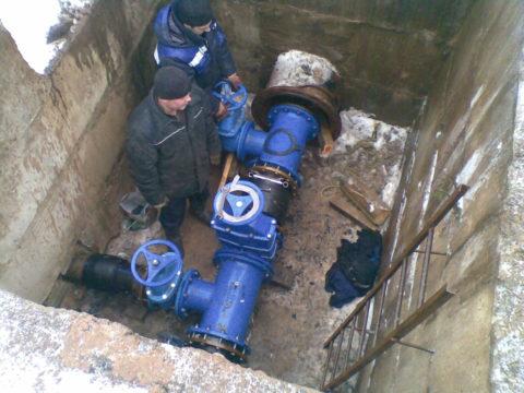 Отключение ремонтного участка для планового ремонта магистрального водопровода