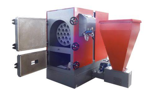 Пеллеты автоматически подаются из топливного бункера
