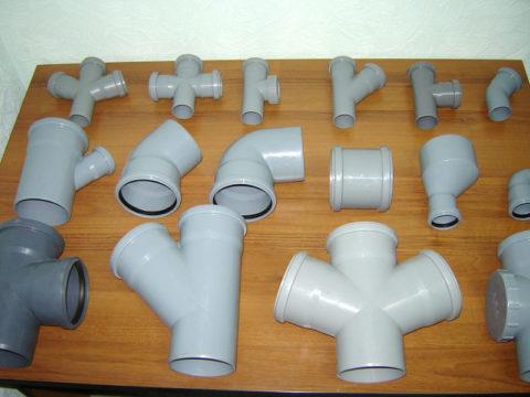Пластиковая канализационная фасонина