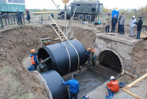 Строительство канализационного коллектора