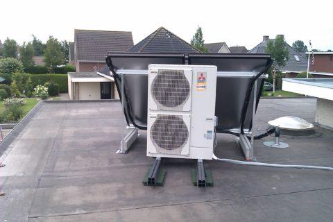 Воздушный тепловой насос Mitsubishi Zubadan работает на тепло при температуре до -30 градусов