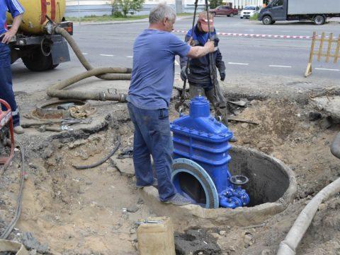 Замена задвижки на магистральном водопроводе