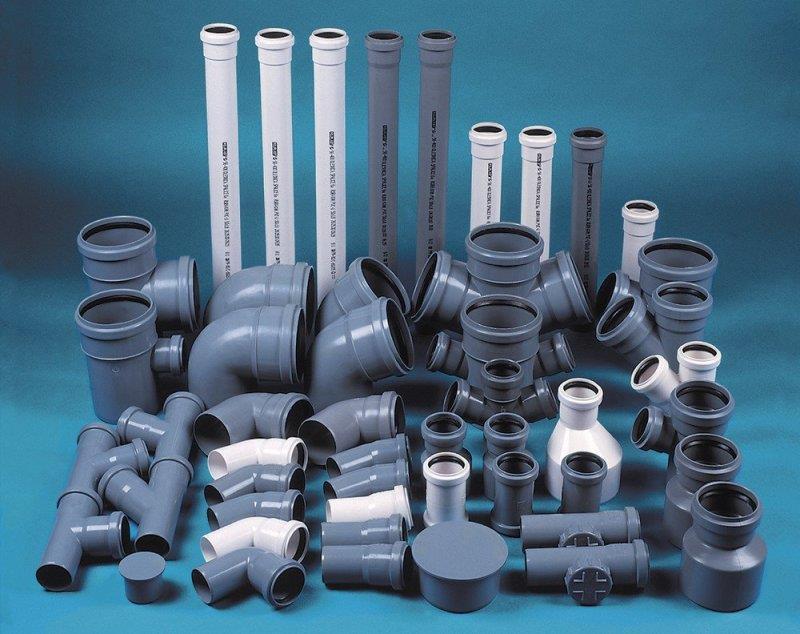 Фасонина и канализационные трубы из полипропилена и ПВХ