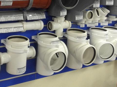 Фасонные детали для бесшумной канализации