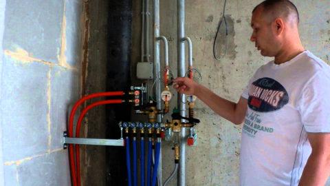 Коллекторное водоснабжение с использованием труб PERT