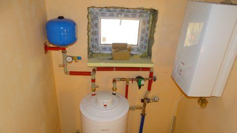 Мембранный бачок компенсирует увеличение объема воды при ее нагреве бойлером