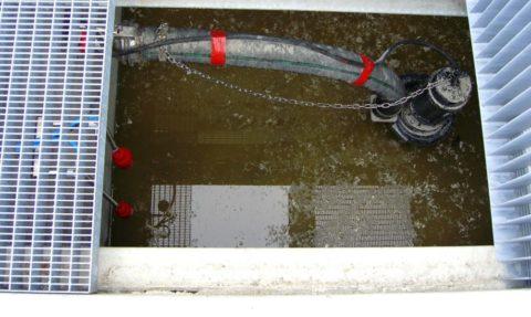 Напорный участок канализации с фекальным насосом