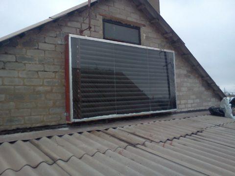 Самодельный коллектор на крыше дома