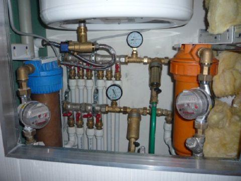 Участок системы водоснабжения квартиры