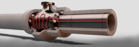 Укладка кабеля в теплоизоляционном кожухе