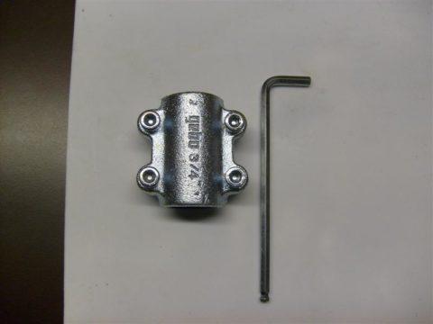 Хомут ремонтный для труб водоснабжения с шестигранным ключом для его установки
