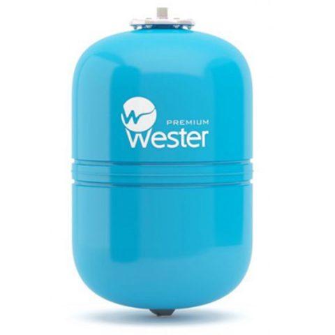 Небесно-голубой мембранный бак для системы водоснабжения — модель WAV от Wester