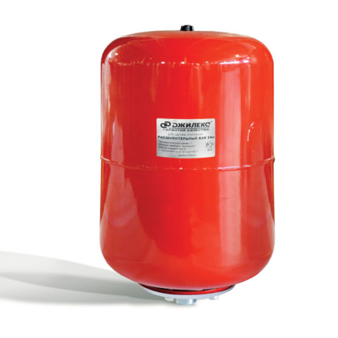 Расширительные бачки для ГВС и отопления чаще всего окрашиваются в красный цвет