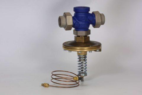 Регулятор перепада давления: водоснабжение здания функционирует с постоянной скоростью циркуляции вне зависимости от параметров теплосети