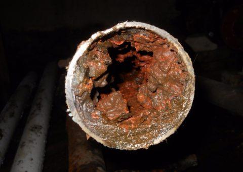 Типичное состояние стальной трубы на ХВС