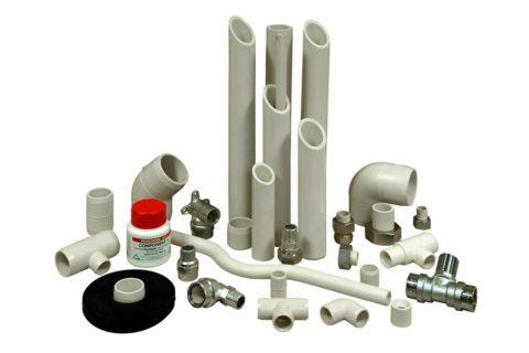 Водопроводные трубы и фитинги