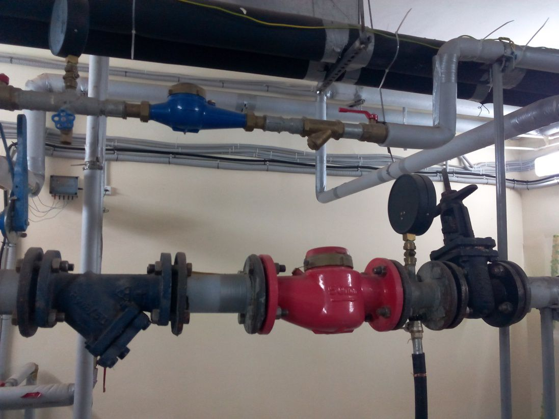Участок внутридомовой системы водоснабжения